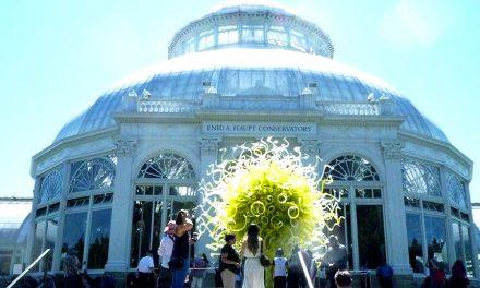 自然の中に佇むガラスアート展、チフーリ@ニューヨークボタニカルガーデン