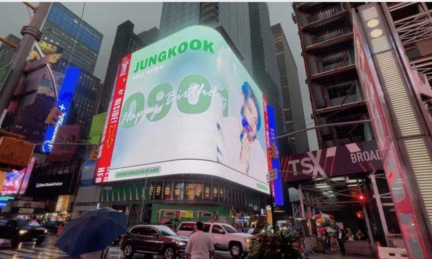 ニューヨークで、BTSジョングクの誕生日イベント! 無料でコレはすごい!
